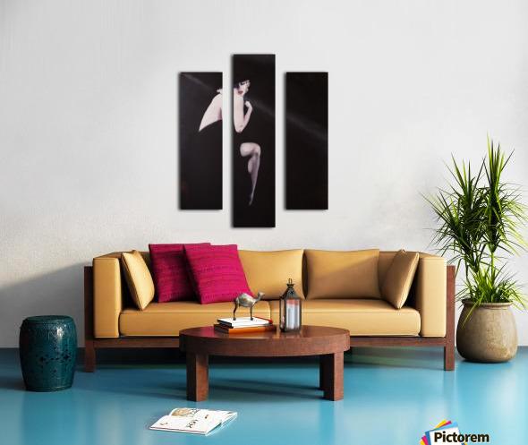 Marilyn black sitting 2 Canvas print