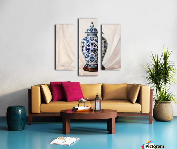 Blue and white vase  Canvas print