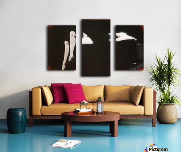 Marilyn black sitting 106   oil painting  portrait 1 Canvas print