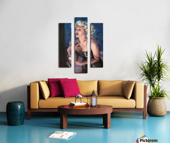 Marilyn in CHANEL 5 oil painting portrait 1 Canvas print