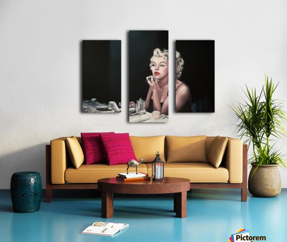 Marilyn backstage  oil painting  portrait 1 Canvas print