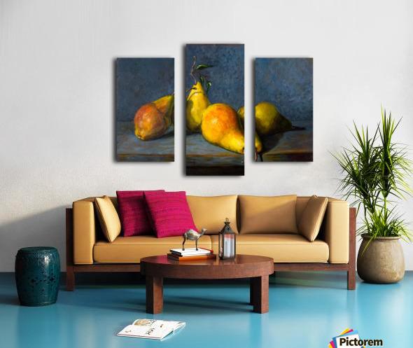 Quatre poires pour Anna  Canvas print
