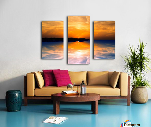 Beautiful Nature Landscape sunrise sunset sun Photography landscape photo Scenery Canvas print