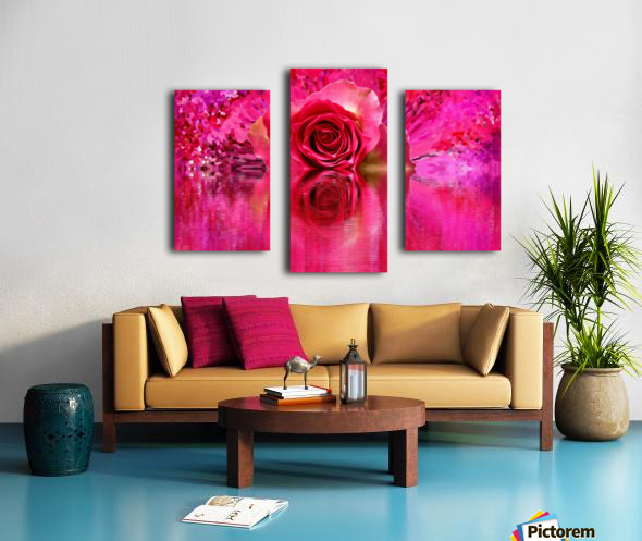Beautiful colourful flower blossom flower background design floral home decor decoration  Canvas print