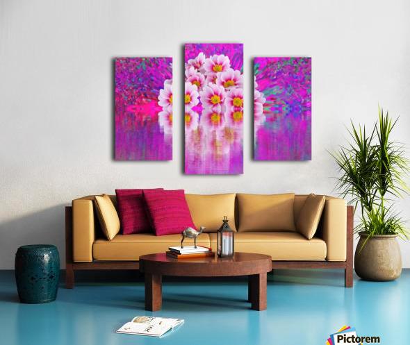 Beautiful colourful flower blossom flower background design floral home decor decoration  Canvas print