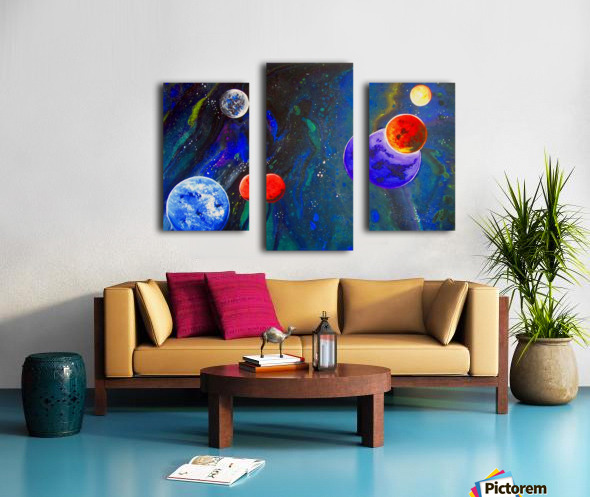Galactic Neighbours Canvas print
