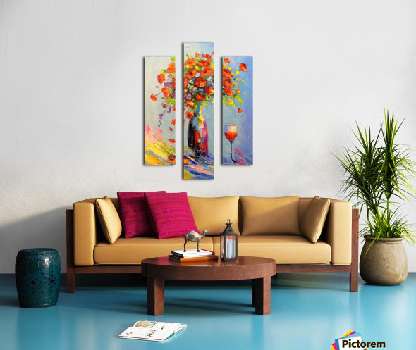 Holiday with a bouquet Canvas print