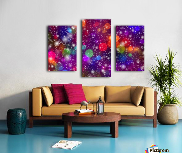 background, abstract, bokeh, lights, decoration, star, party, colorful, confetti, Canvas print