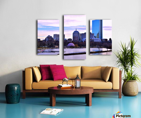 12.5.18 Skyline Boston Canvas print