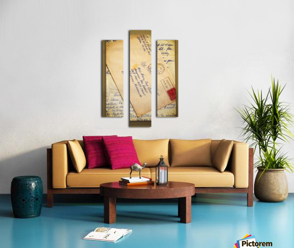 Old Letters Canvas print