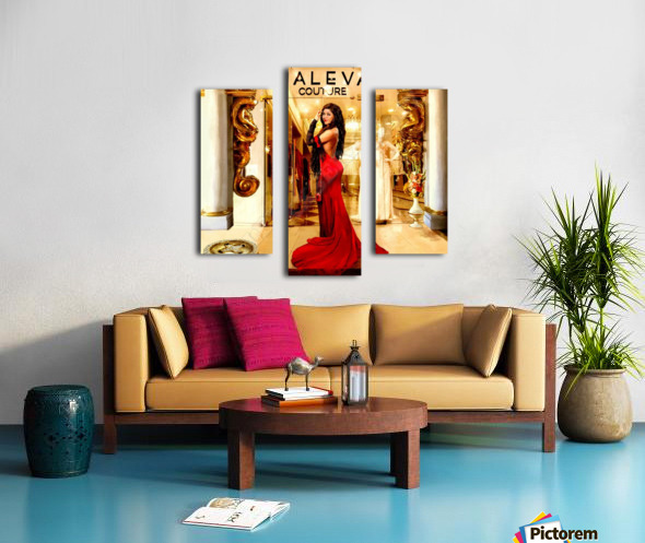 Golden button Canvas print