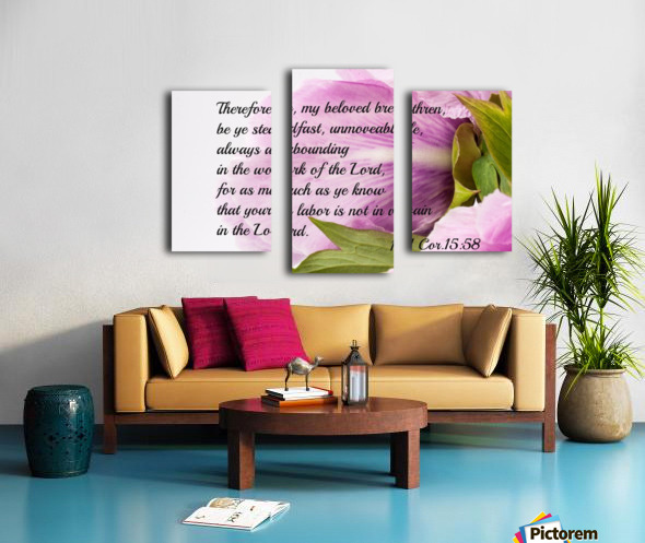 Be ye stedfast Canvas print