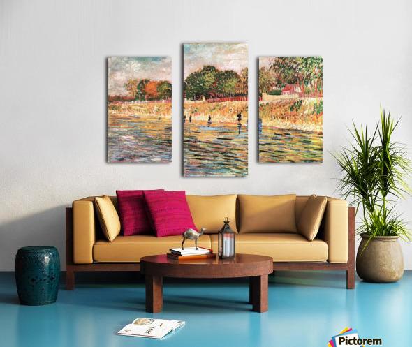 River bank by Van Gogh Canvas print