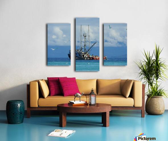 Aqua Canvas print