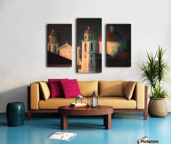 la basilica a Lavagna Canvas print