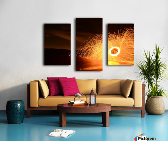 Flaming Stars Canvas print