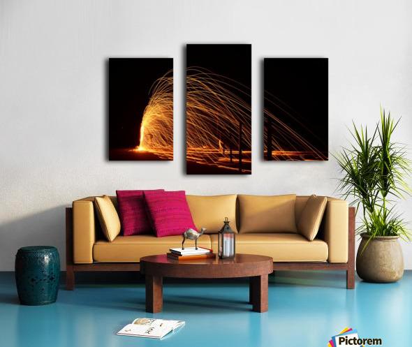 Majestic Flames Canvas print