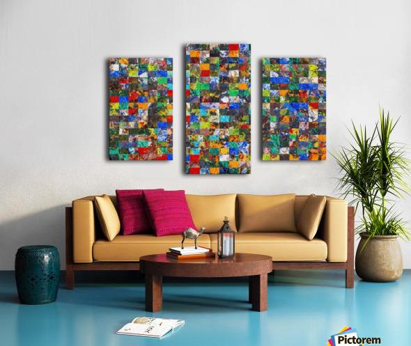 The Wall of Random Bricks Canvas print