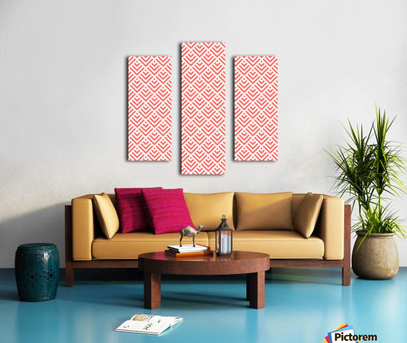 Living Coral Pattern I Canvas print