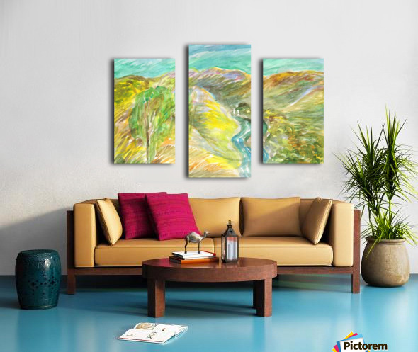 Golden summer days Canvas print
