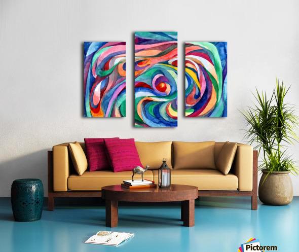 Abstract underwater world Canvas print
