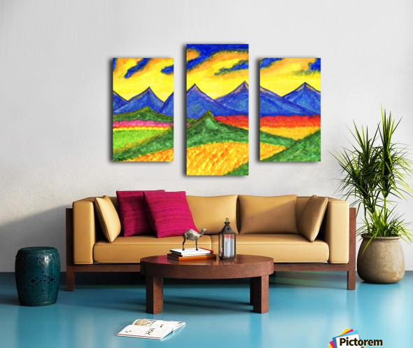 Fantastic mountain landscape Impression sur toile