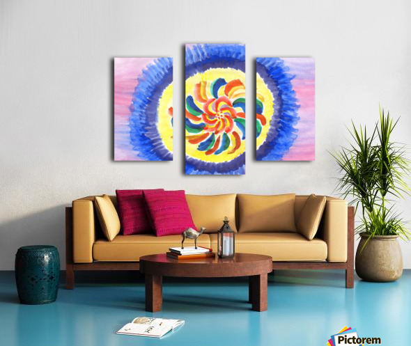 Perpetual motion abstract Canvas print