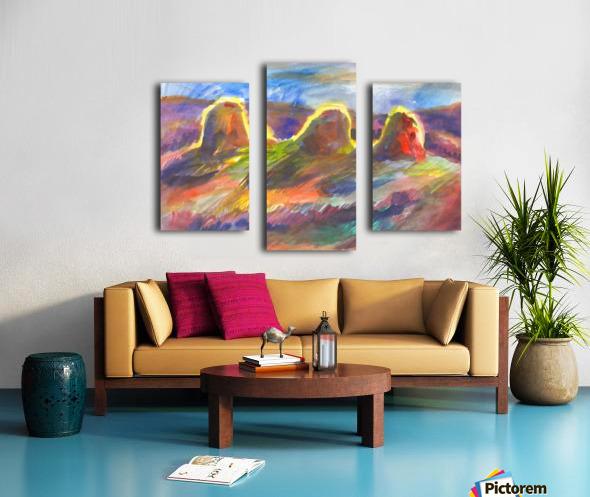 Sunny haystacks Canvas print