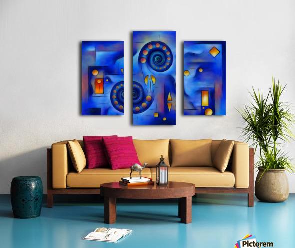 Grefenorium - blue spiral world Canvas print
