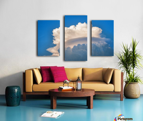 Atomic Cloud Canvas print