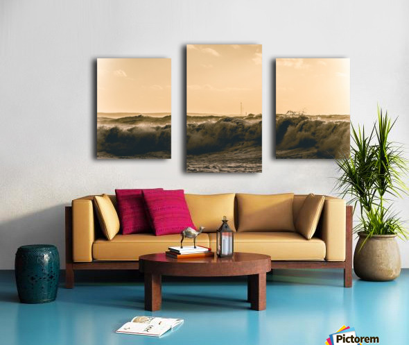 High seas and Light house Canvas print