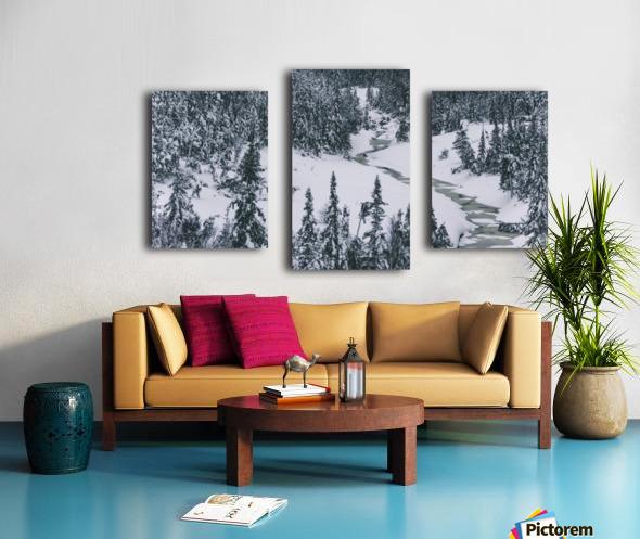 Frozen river. Canvas print