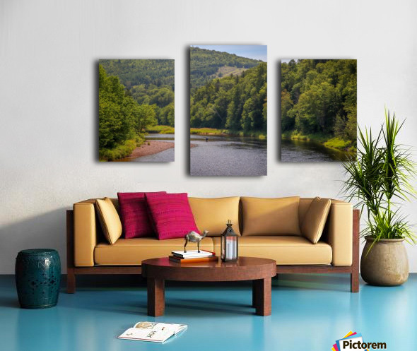 Doyles Bridge Margaree river Canvas print