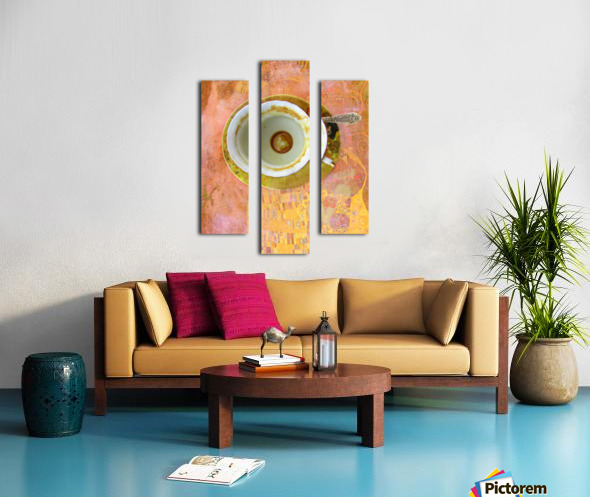 Coffee with Klimt Canvas print