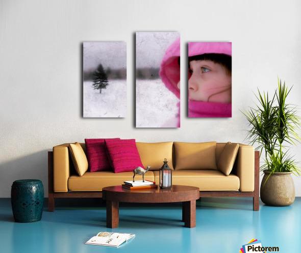 Winter pink Canvas print