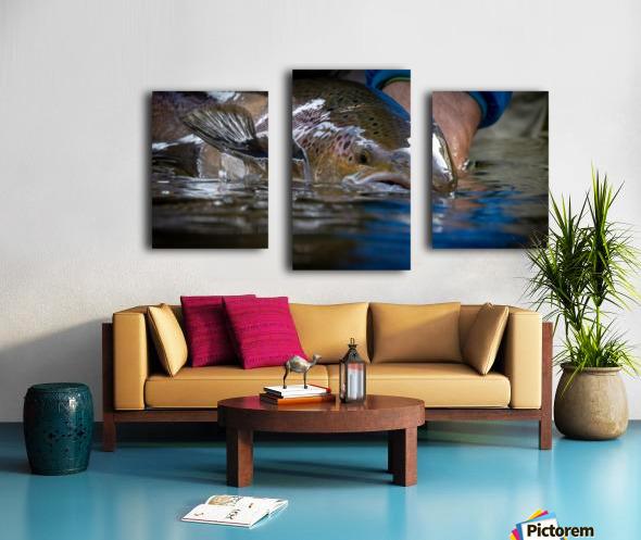 Just a glimpse ..  Canvas print
