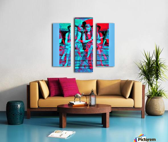 The Umbrella Girls by neil gairn adams  Canvas print