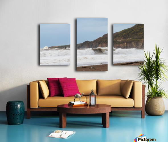 Fall storm Cabot trail. Canvas print