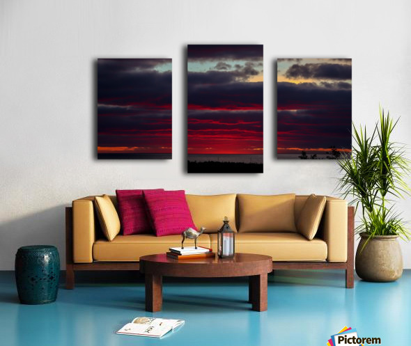Blood red sunset Canvas print