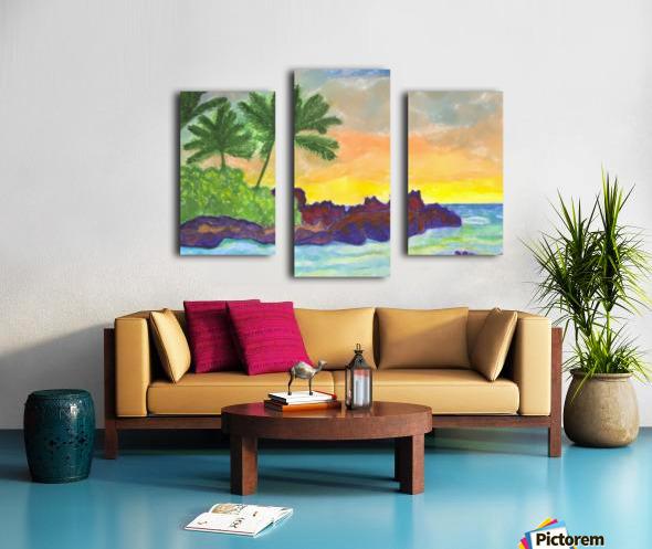 Tropical island in the ocean Canvas print