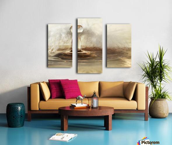 Golden featherdrops Canvas print