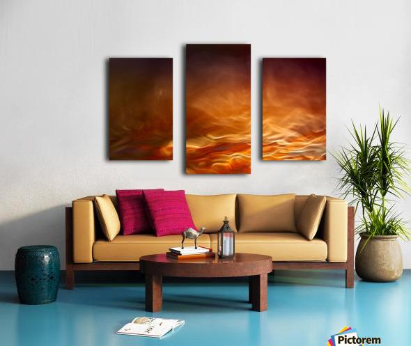 Burning water Canvas print