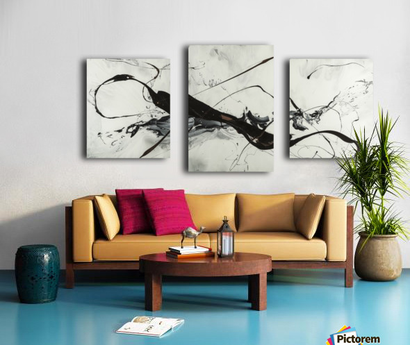 2942 made of gold Canvas print