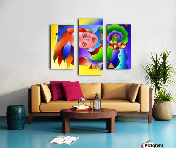 Fasettonia - colourful spirit Canvas print
