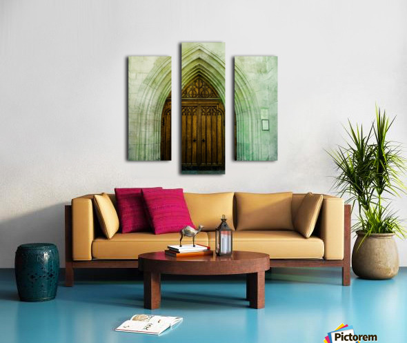 ZURICH CATHEDRAL DOOR Canvas print