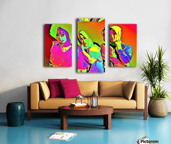 Three Friends - by Neil Gairn Adams Canvas print
