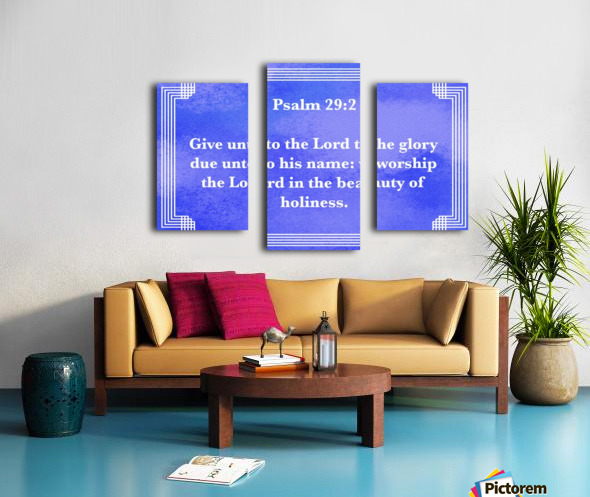 Psalm 29 2 2BL Canvas print