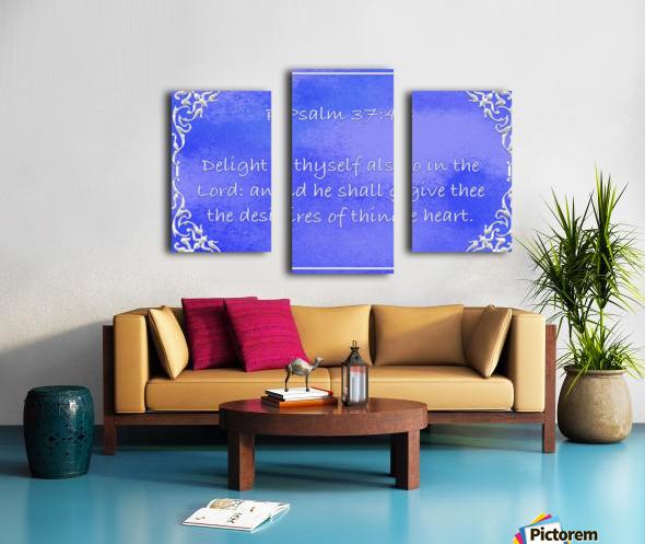 Psalm 37 4 1BL Canvas print