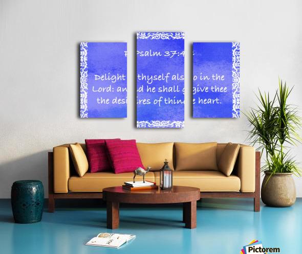 Psalm 37 4 10BL Canvas print