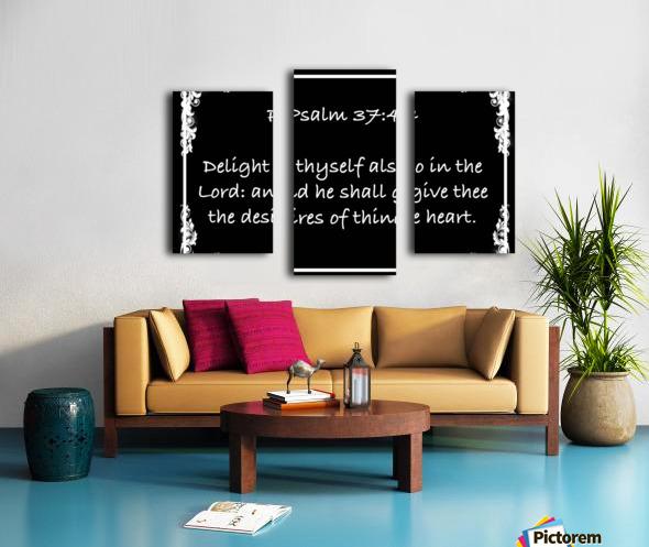Psalm 37 4 8BW Canvas print